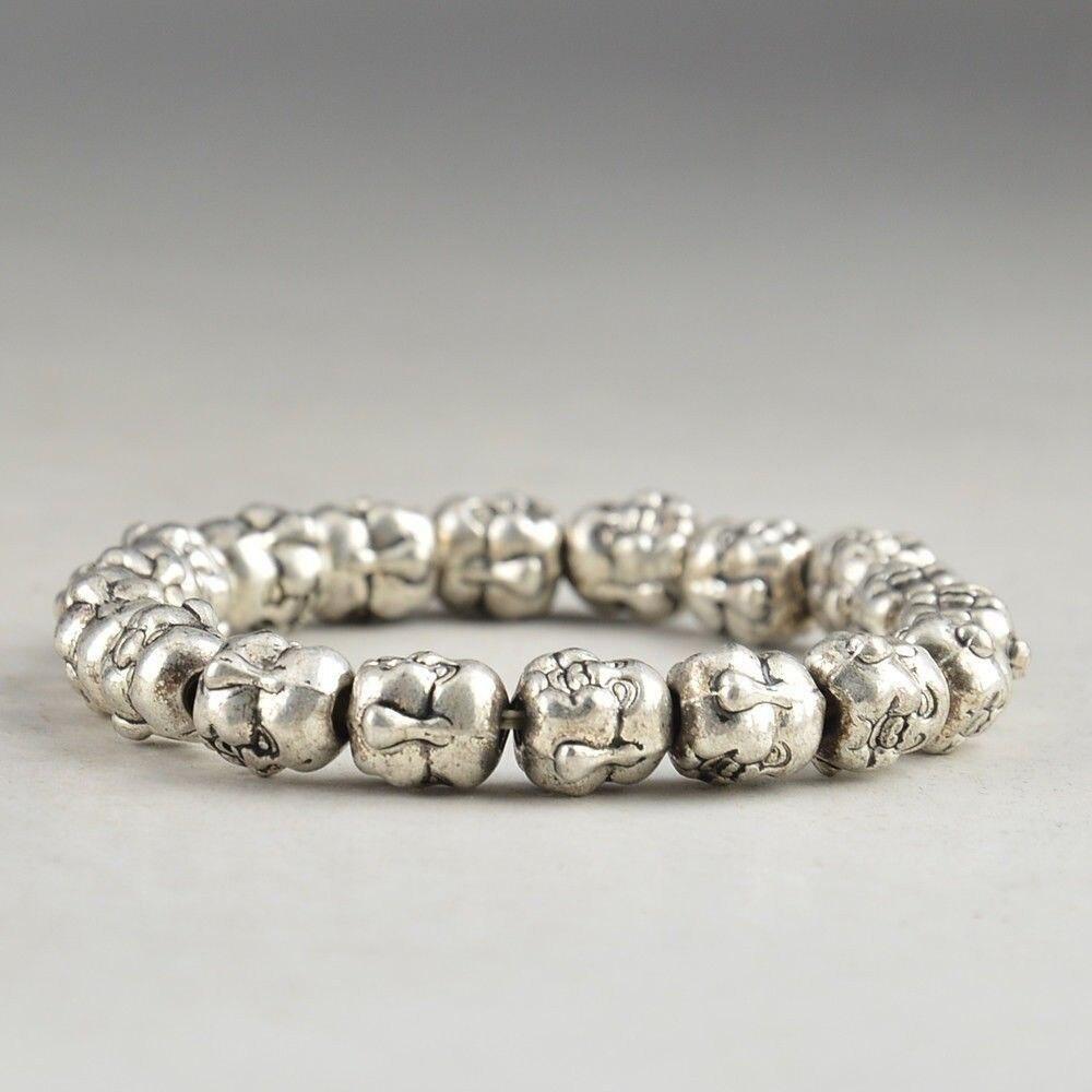 Браслет из тибетского серебра фото
