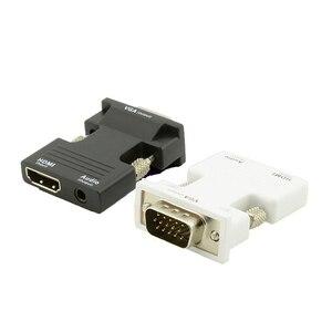 Image 5 - Amkle HDMI لمحول VGA محول HDMI أنثى إلى VGA ذكر الصوت كابل محول الفيديو 1080P للكمبيوتر المحمول شاشة التلفاز العارض