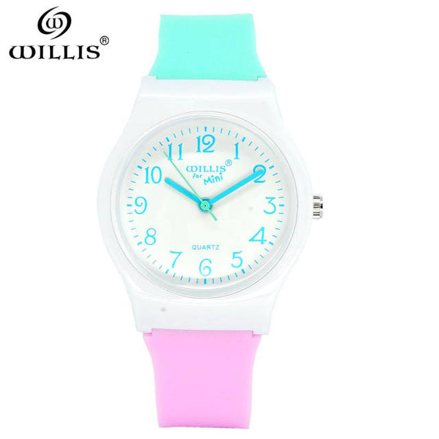 WILLIS brand Top Waterproof Colorful jelly Quartz Watches Fashion Harajuku Analo