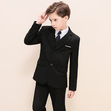 Boys Blazer Suits Kid Boy Wedding Black Dress Costume Kids Blazers Clothing Set H466