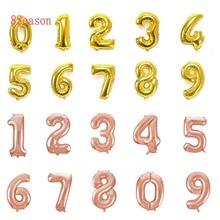 8Season Happy Birthday Number Balloons Big Size Digit Helium Foil Ballon  Anniversary Party Celebration decor Globos