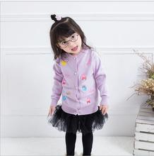 Cardigan coat Knit Sweaters Cotton &Polyester England Srtyle Children Clothing O-Neck Spring Autumn Baby Jacket S058