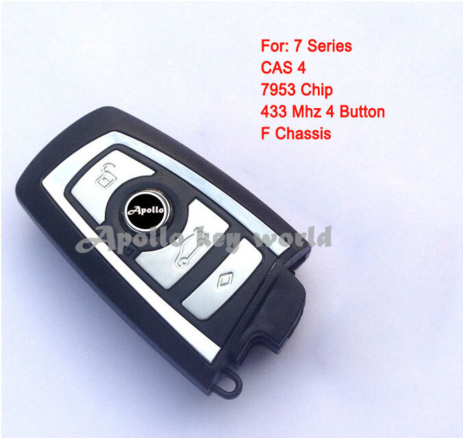 2PCS/lot For BMW 7 Series CAS4 With F Chassis 4 Button Smart Remote Key Control 433 Mhz With 7953 Chip (Without key blade)