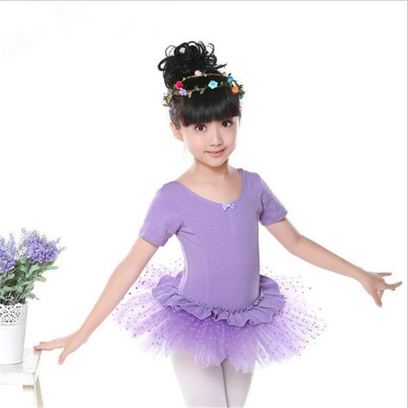 Ballet Dancing Dress For Children Dancewear Tranning Dance Voile Skirt Costumes Danse Tutu Jupe Femme Princess Dress Cotton