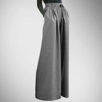 Ограниченное по времени Специальное предложение Карманы Пояса поддельные Застёжки молнии свободные Mujer кожаные штаны юбка Мотобрюки Широк