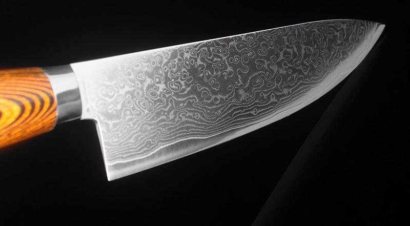 2PCS Set Japan Damascus Steel Knife Chef Boning Paring Cut Meat Sharp Practical Santoku Best Family Restaurant Kitchen Tool-in Knife Sets from Home & Garden    3