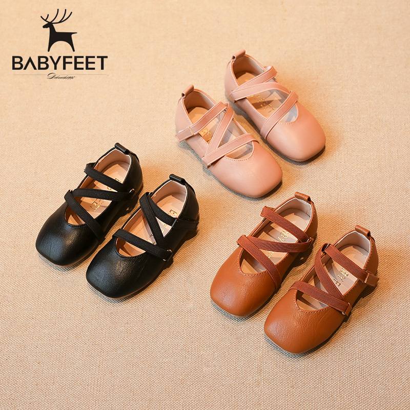 babyfeet 1-3 years old baby girl shoes Kids Solid Microfiber Leather toddle children princess shoes sapato infantil menina festa