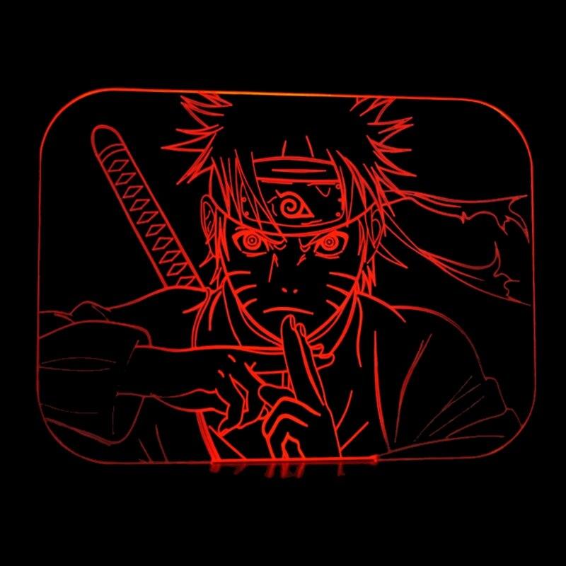 Naruto Anime 3d Nachtlicht Kreative Geschenke 3d Illusion Lampe Led