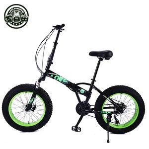Image 3 - Bicicletas dobráveis para homens e mulheres bicicletas de neve portátil bicicleta mudando absorção de choque pequena roda 20 polegada mountain bike