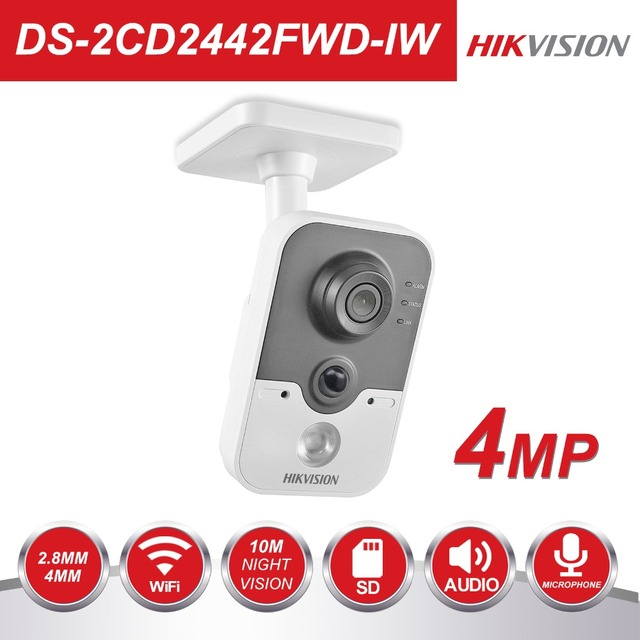 Hikvision Draadloze IP Camera 1080 p DS-2CD2442FWD-IW 4MP Indoor IR Cube WiFi Home Security Camera Remote View Ondersteuning