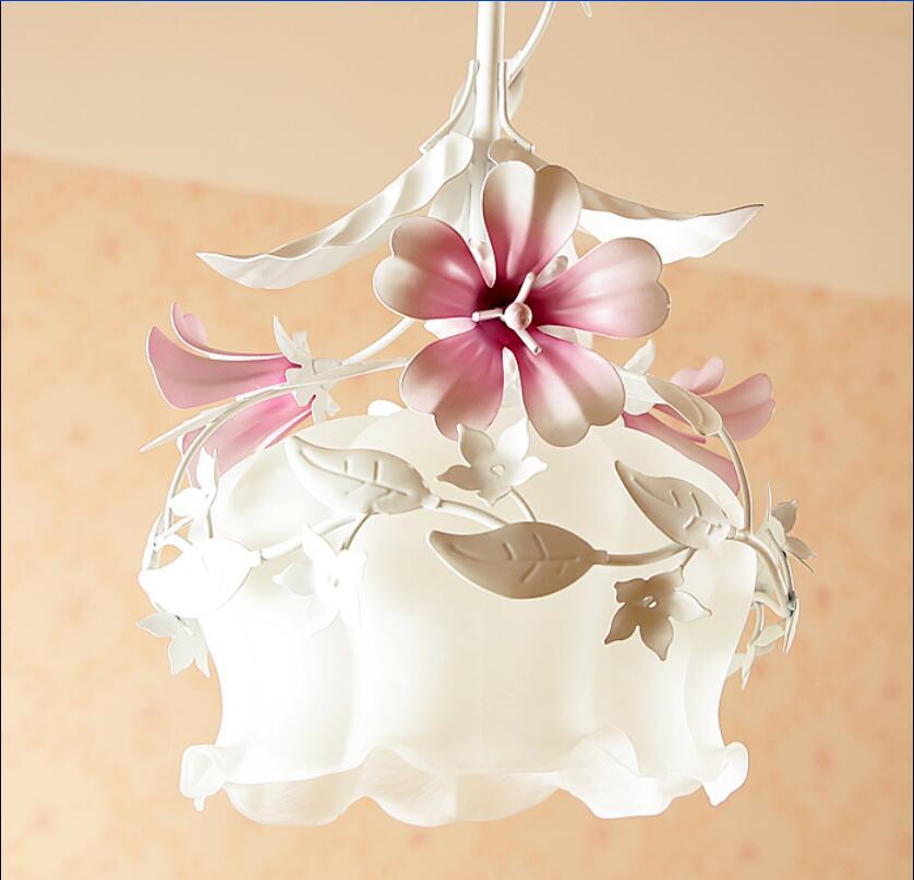 Long pendentif lumière 2017 Unique petit pendentif lumière rustique forgé fleurs de fer et plantes fleur balcon ZCL