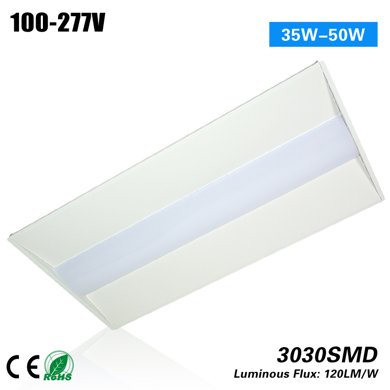 Free shipping 5 years warranty CE ROHS 2x4 50w led recessed troffer 100-277VAC indoor light p10 real estate project hd clear led message board 2 years warranty