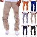 2017 Jeans Para Hombre Casual Jeans Diseñador de la Marca Jeans Rasgados para Los Hombres, Light Blue Denim Pantalones rasgados destruidos vaqueros holgados de los hombres