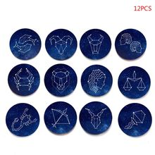 12 Constellation Fridge Magnet Refrigerator Magnets Leo Scorpio Aries Pisces Glass Cabochon Sticker Set Home Decor