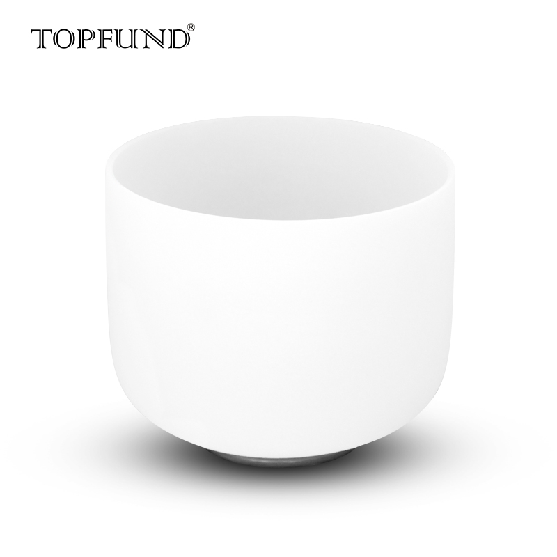 TOPFUND 432hz/Perfect Pitch G Note Throat Chakra Frosted Quartz Crystal Singing Bowl 8,O ring and Mallet included, MeditationTOPFUND 432hz/Perfect Pitch G Note Throat Chakra Frosted Quartz Crystal Singing Bowl 8,O ring and Mallet included, Meditation