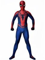 Spiderman Cosplay Costume Spandex Lycra Zentai Second Skin Tight Suit Spider Man Halloween Party Bodysuit
