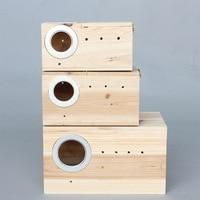 Holz Käfig Häuser Zucht Box Nest Baby Für Taube Vogel Papagei Lovebirds Liefert Tier Produkte Zubehör W13-3