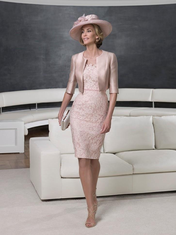 Custom Made Vestido De Madrinha Gratuito Bolero Rosa De