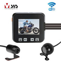 V SYS M6 WiFi Waterproof IR Night Vision Motorcycle Camera Recorder DVR System Front 1080P+Rear 720P Dual Camera System Dash Cam