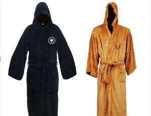 Image 1 - Gorąca sprzedaż gwiezdne wojny darth vader flanelowe Terry Jedi dorosłych szlafrok szaty kostium cosplay na halloween dla mężczyzn bielizna nocna