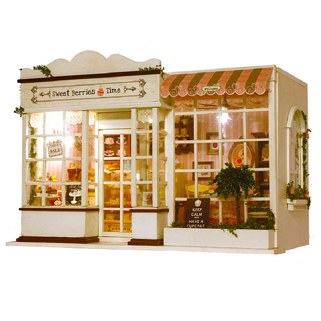 NFSTRIKE bricolage maison de poupée Miniature en bois jouets doux temps de purée 3D assemblage bricolage maison créative modèle de construction Kits enfants cadeaux