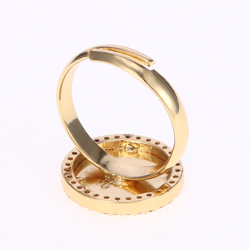 Duoying 15 mm Monogram O Z Letter Rings Traditional Gold Coin Ring ...