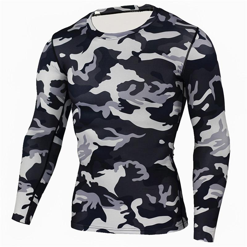 남자 캐주얼 긴 소매 위장 Tshirt 남자 육군 전술 전투 군사 카모 Mens 셔츠 패션 Breathable 탑 & 티셔츠