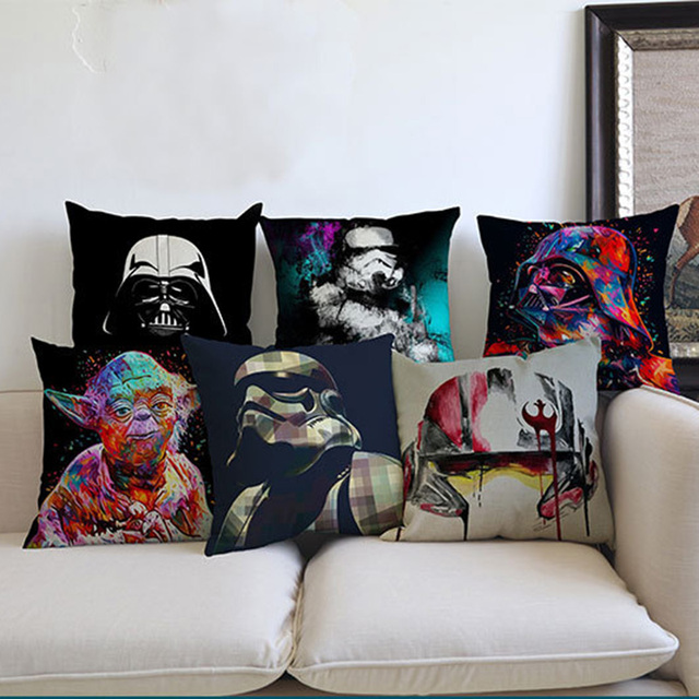 Classic Film Star Wars Splash-ink Caratteri di Stile Simbolo Federa Stormtrooper