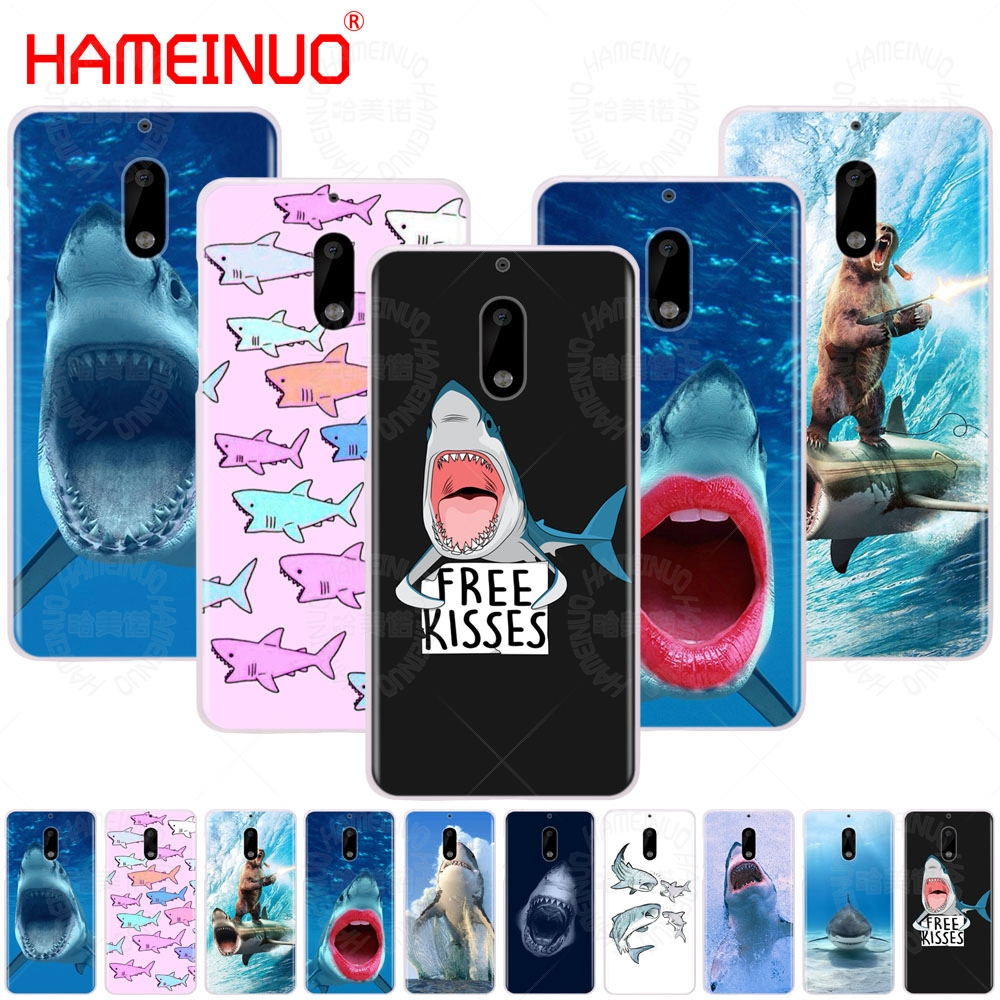 HAMEINUO ocean Whale Sharks fish cover phone case for Nokia 9 8 7 6 5 3 Lumia 630 640 640XL 2018