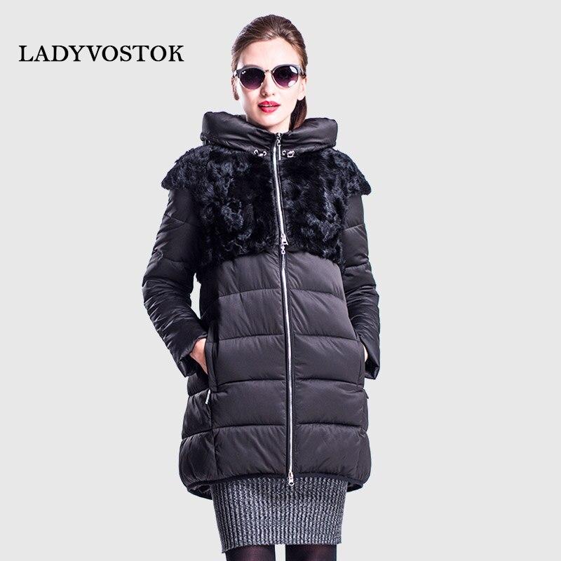 Vladivostok otoño invierno abrigo largo caliente combinación moda cremallera chaqueta del envío ropa casual chaqueta piel transformador 16-769