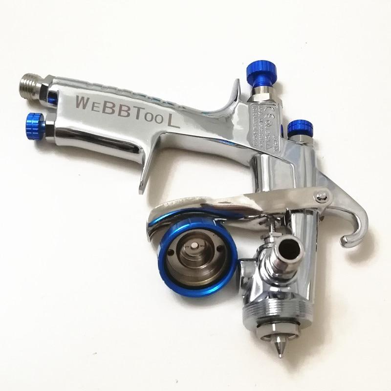 Image 5 - Genuine qr cod W 101 Spray Gun 134G  w101 HVLP Manual Paint spray Gun Gravity  1.0/1.3/1.5/1.8mm  Furniture Car Coating Painting-in Spray Guns from Tools