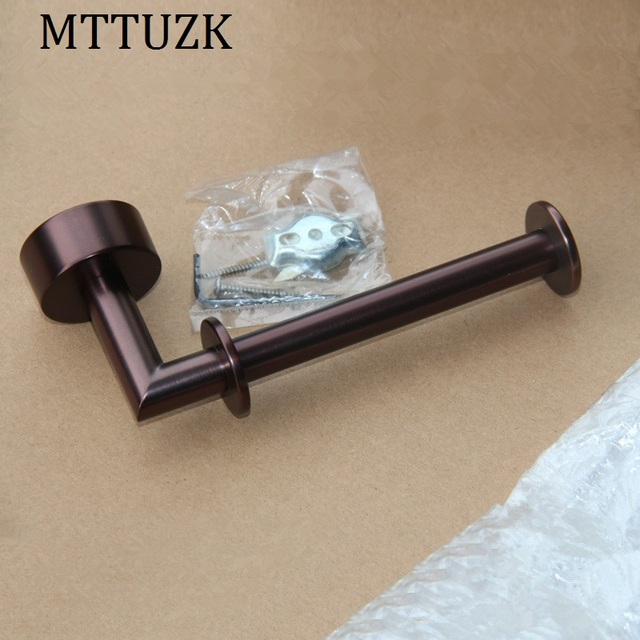 Mttuzk Oil Bubbed Bronze Wall Mounted Paper Holder Roll Copper Towel Bathroom Accessories