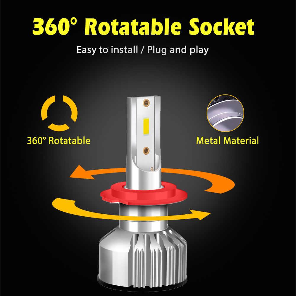 2PCS H4 LED H7 Bulb H1 H3 H11 H13  9005 9006  HB4 72W 10000LM 3000K 4300K 6500K LED Car Headlight Front Fog Light Headlamp