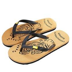 New summer brand men print flip flops eva animal prints tiger designer flat sandals home slippers.jpg 250x250