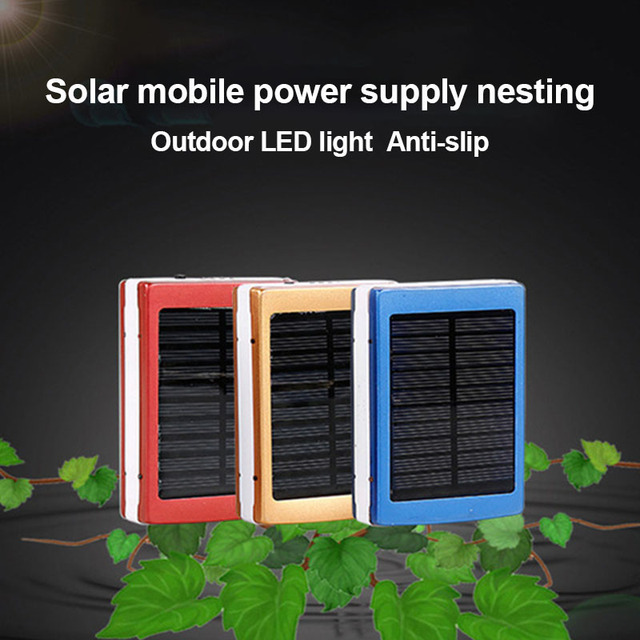 DIY Dual USB Solar Mobile Power Bank Nesting Portable Battery Charger Box Camping Light WIF66