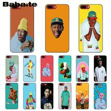 Babaite tyler die creator RAP tyler Smart Cover Schwarz Weiche Shell Telefon Fall für iPhone X XS MAX 6 6S 7 7plus 8 8Plus 5 5S XR(China)