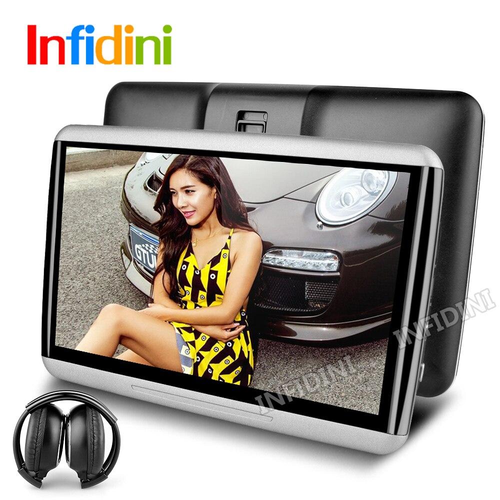 imágenes para 1366*768 android 4.4 universal de coches reproductor de reposacabezas monitor Posterior Del Coche reposacabezas Reproductor de Tablet PC del coche Monitor sd usb 3G wifi juegos