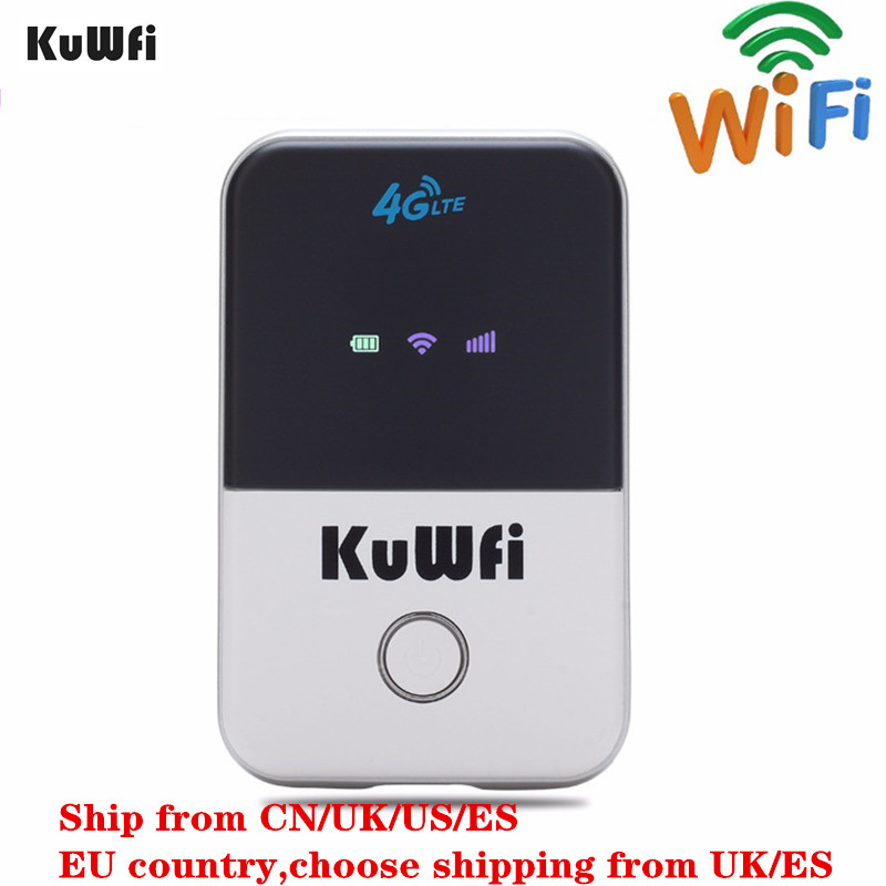 KuWFi 4G Wifi Router Mini LTE Wireless Router Unlocked 3G / 4G FDD / TDD Saku Portabel Wi fi Router Dengan Slot Kartu Sim