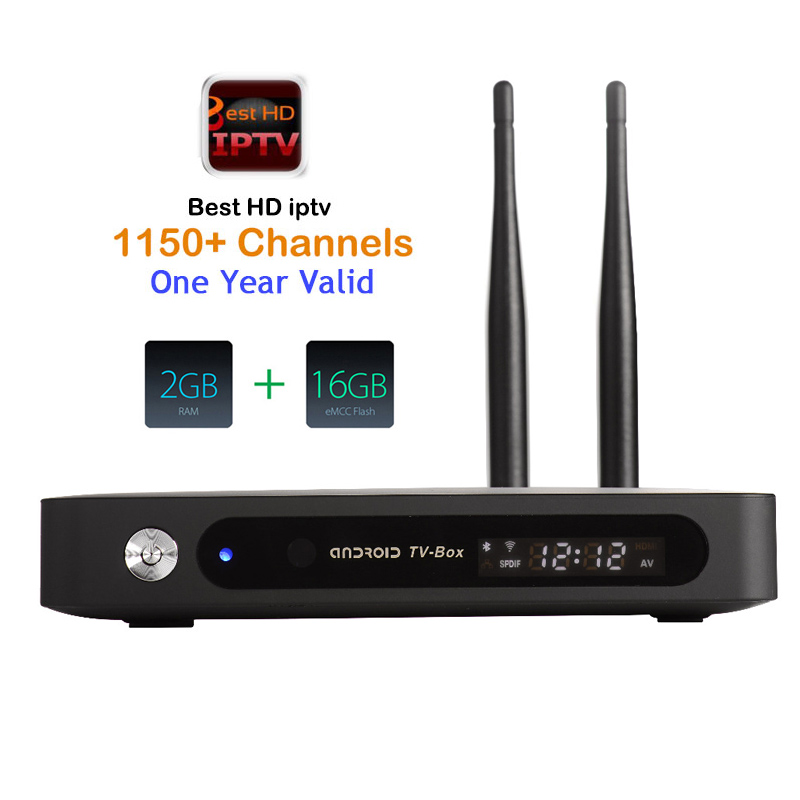 1 année iptv Android TV BOX RK3368 Cortx-A53 Octa Core Smart TV 2 GB 16 GB H.265 4 K BT4.0 Avec 2 Antenne HD Intelligent tvbox edia lecteur