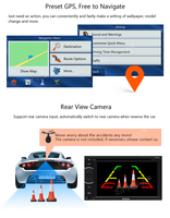 Android 5.1 Octa Core 2 Din Car Stereo Headunit Car Radio DVD Support GPS Navigation Bluetooth Autoradio Mirror link FM AM RDS