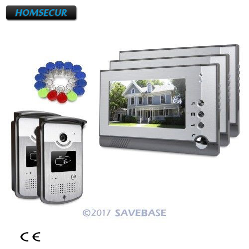 7 HOMSECUR CMOS IP54 Wired Video Door Intercom with Sensor-controlled White LED Lights 2v3
