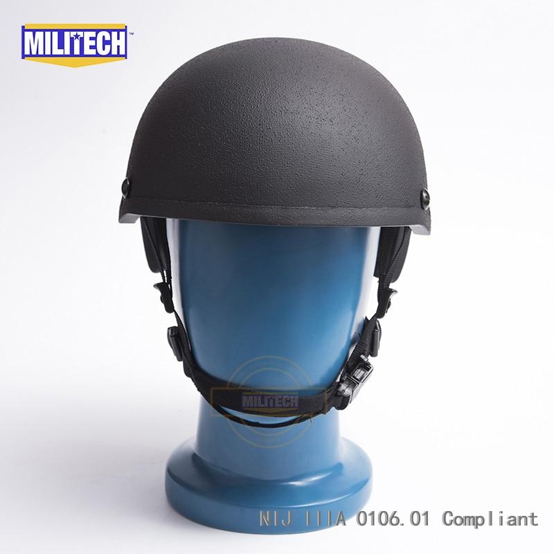 b791de56f0ea0c MILITECH czarny H karku liniowej NIJ poziomu IIIA 3A wysokiej cięcia  aramidowe balistycznych kuloodporne kask z 5 lat gwarancji i test wideo