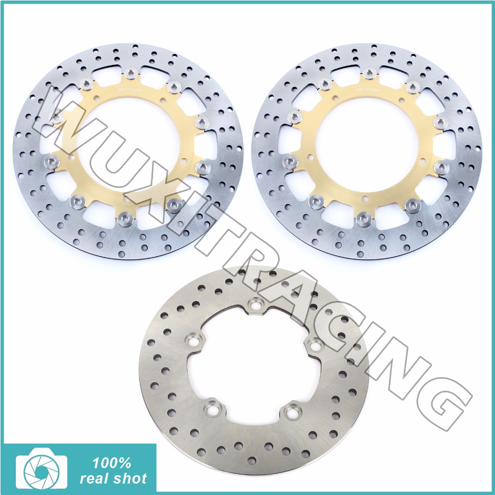 Full Set Front Rear Brake Discs Rotor for YAMAHA XJR 400 R 95-00 FZR 600 R 89-95 FZS 600 Fazer 98-06 TDM 850 91-01 TRX 850 98-03 sintered copper motorcycle parts fa252 front brake pads for yamaha fzs 600 fazer 98 03