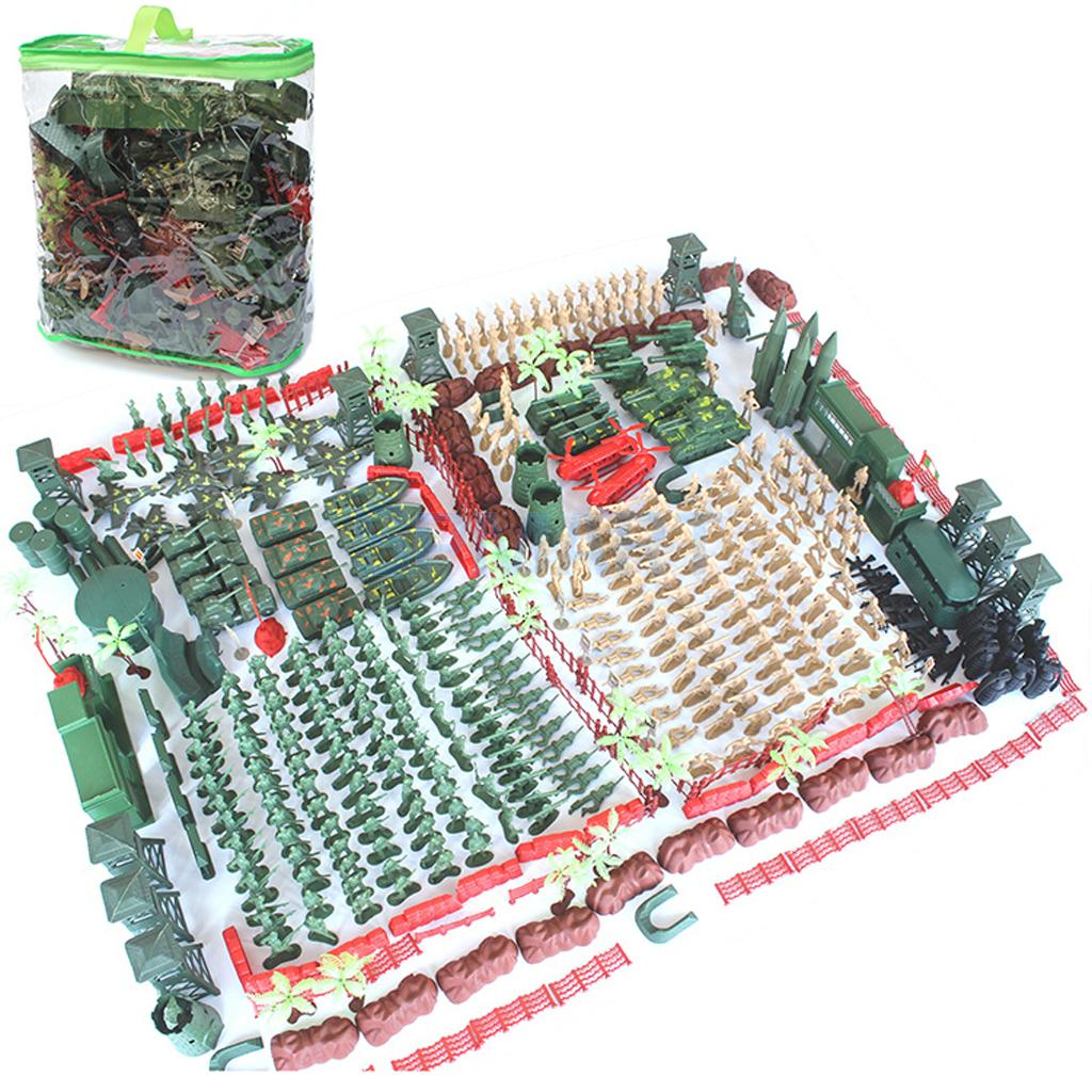 520pcs Plastic Military Playset 5cm Soldier Figures with Assorted Army Accessories Model Toys For Children Boys 170pcs set military plastic model toy soldier army men figures