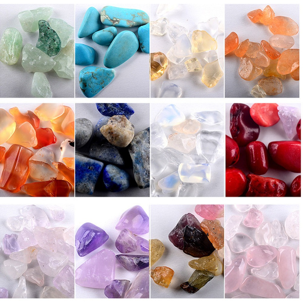 12 Colors 200pcs Irregular Nail Stone Decorations Natural Crystal Agate Stone for Nail Art Design 2017 Cattie Girl DIY Manicure