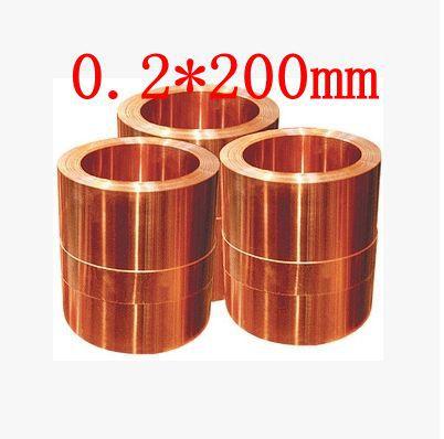 0.2*200mm High quality copper strip, sheet skin red copper,Purple copper foil,Copper plate yamaha rs320 red copper