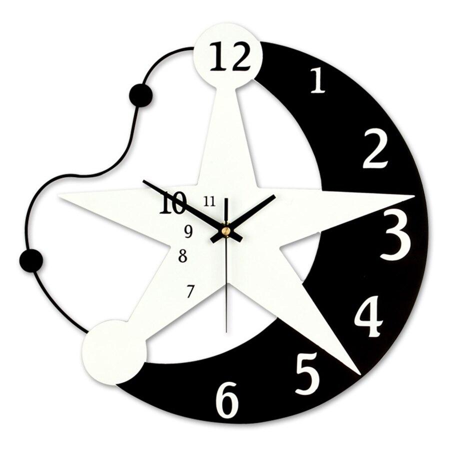 Creative Sticker Wall Clock Modern Wood Kids Best Selling 2018 Products Wall Clock Modern Design Horloge Loft Decor Home 50Q096