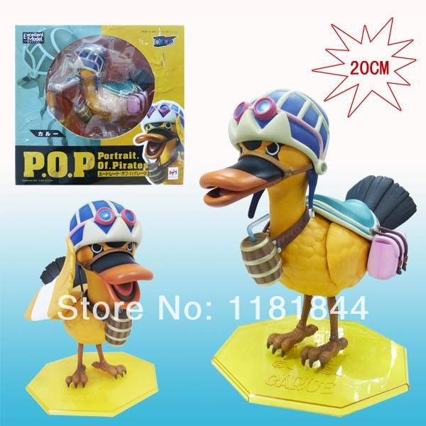 One Piece POP Nefeltari Vivi Duck Yellow Mounts Japanese Anime Cartoon Character PVC Hand To