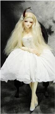 5Pcs / lot NEW Corn Curly Wavy Doll DIY Parykker For 1/3 1/4 1/6 BJD - Dukker og tilbehør - Bilde 2