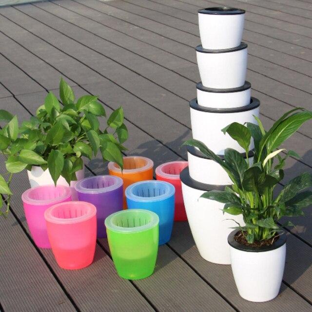 Intérieur Extérieur Jardin Balcon Plante Paresseux Pot Automatique ...